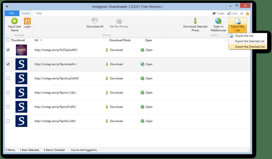 İnstagram Downloader – İnstagram Fotoğraf / Resim / Video İndirme Programı