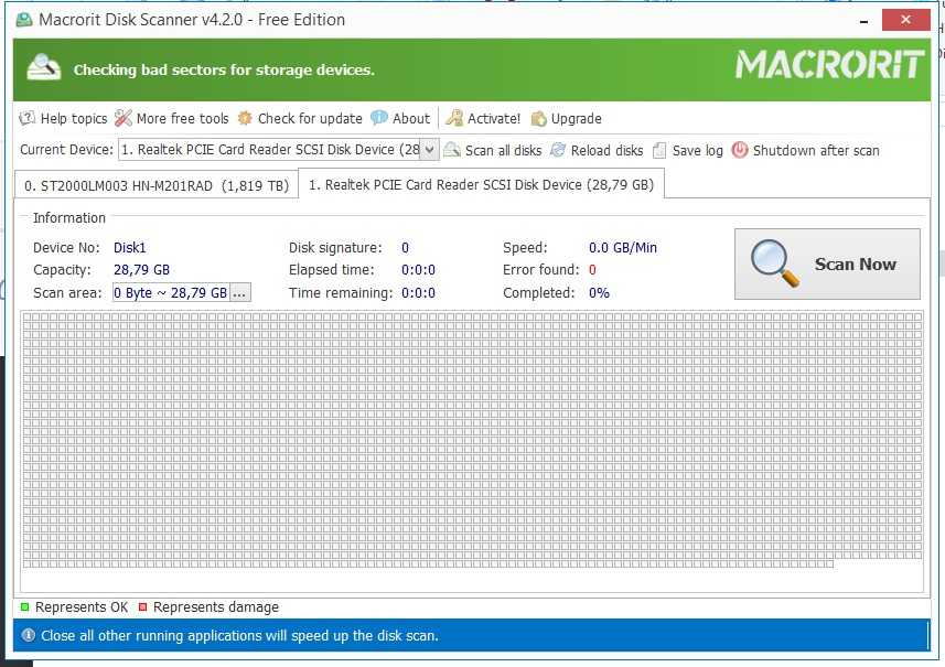 Macrorit Disk Scanner Portable 4.2.0 – Harddisk Bad Sector ve Hata Tarama Programı