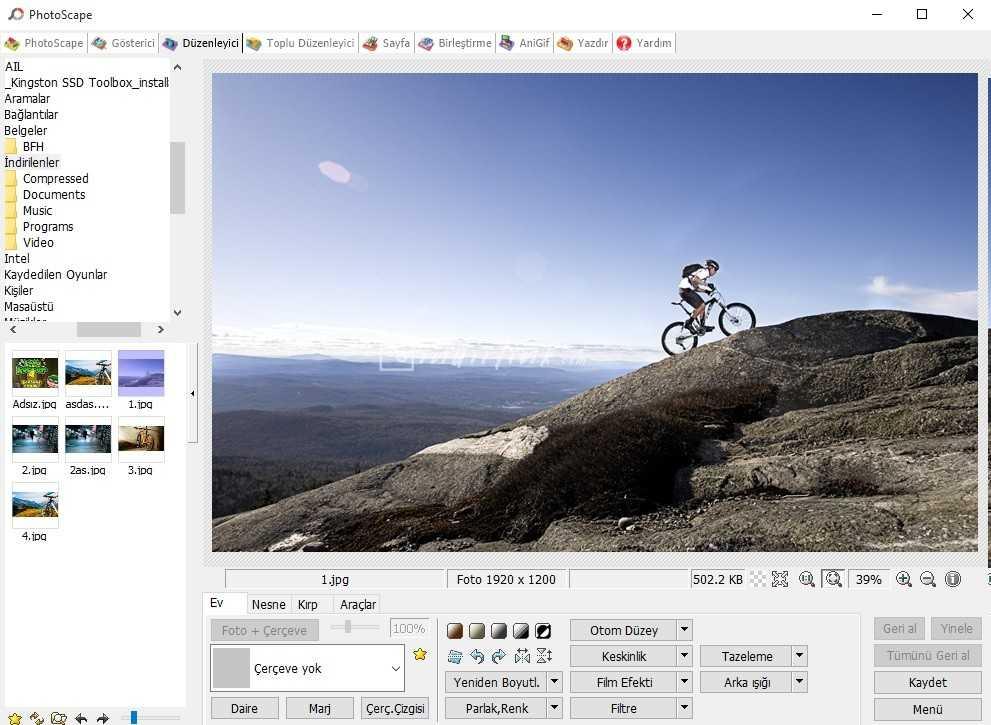 PhotoScape – Photoshop Benzeri Ücretsiz Resim Düzenleme Programı