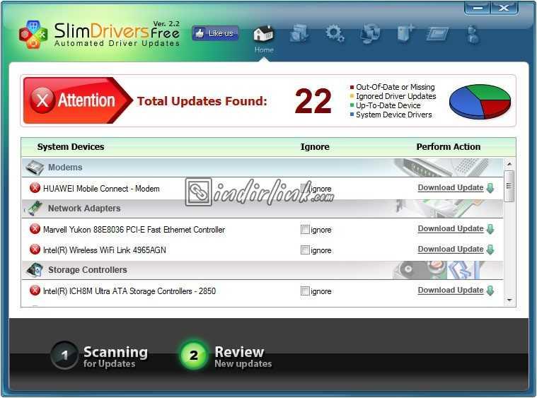 SlimDrivers – Otomatik Sürücü / Driver Güncelleme Programı