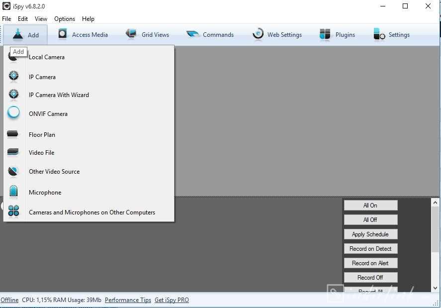 iSpy – Güvenlik Kamerası İzleme Programı