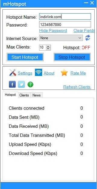 mHotspot – Laptoptan WiFi Dağıtma Programı