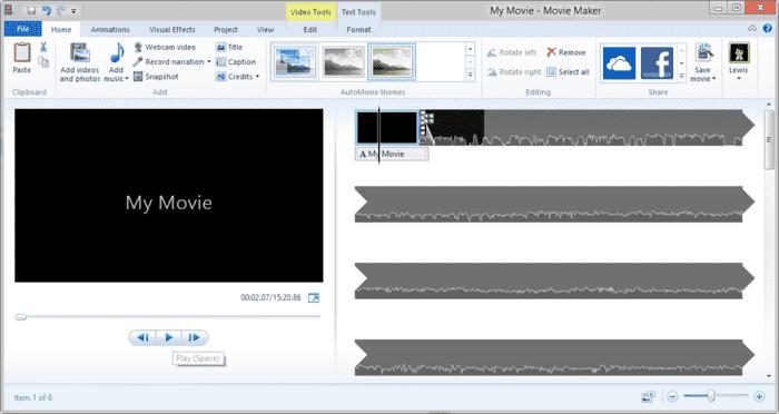 Windows 10 için Movie Maker (Video Düzenleme ve Slayt Hazırlama Programı)