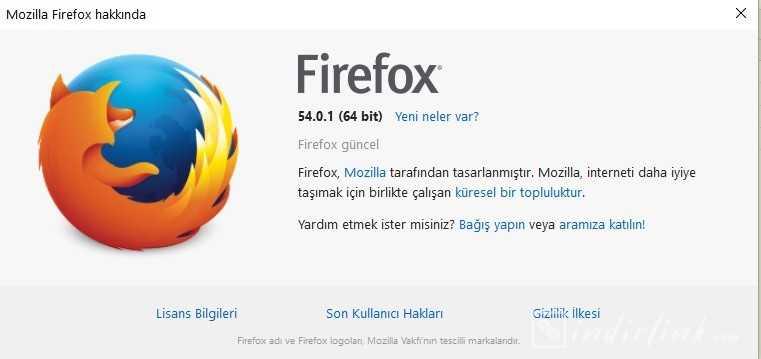 Mozilla Firefox 64 Bit Türkçe
