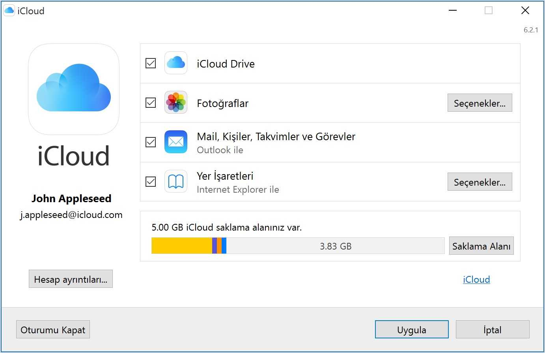 Windows için iCloud – Apple iCloud Programı