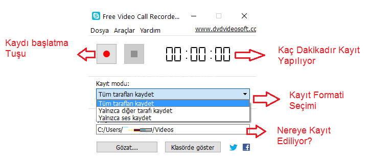Video Call Recorder for Skype – Skype Video Görüşmesini Kaydetme Programı