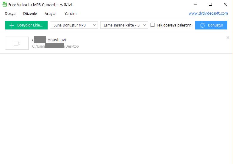 Free Video to MP3 Converter – Videodaki Sesi Kaydetme Programı