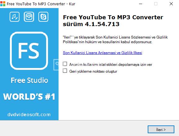 Ücretsiz Türkçe Youtube MP3 Çevirici Program -Free YouTube to MP3 Converter