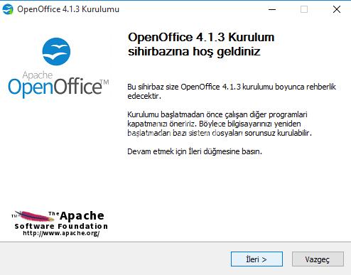 Apache OpenOffice 4.1.3 – Ücretsiz Türkçe Ofis Programı