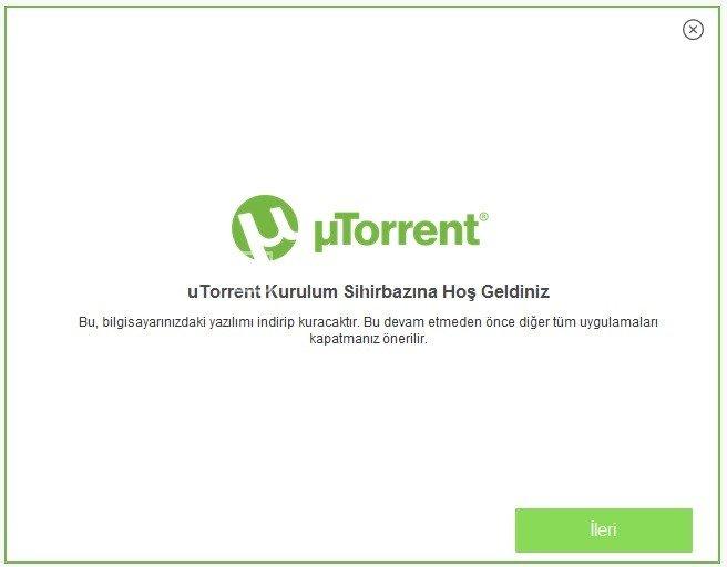 uTorrent -Ücretsiz Torrent İndirme Programı