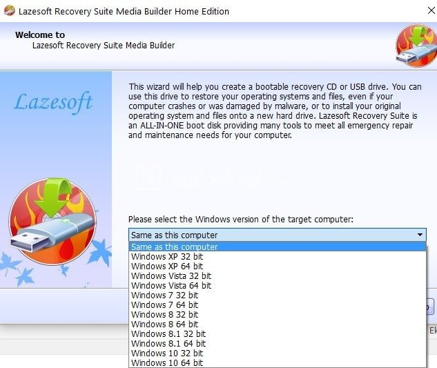 Lazesoft Recovery Suite Home Edition – Windows Şifresini Sıfırlama Programı