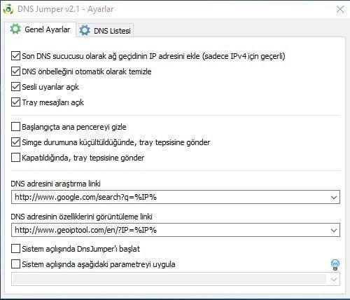 DNS Jumper 2.1 + dns değiştirerek internette gezinme hızını arttıran kullanışlı bir program