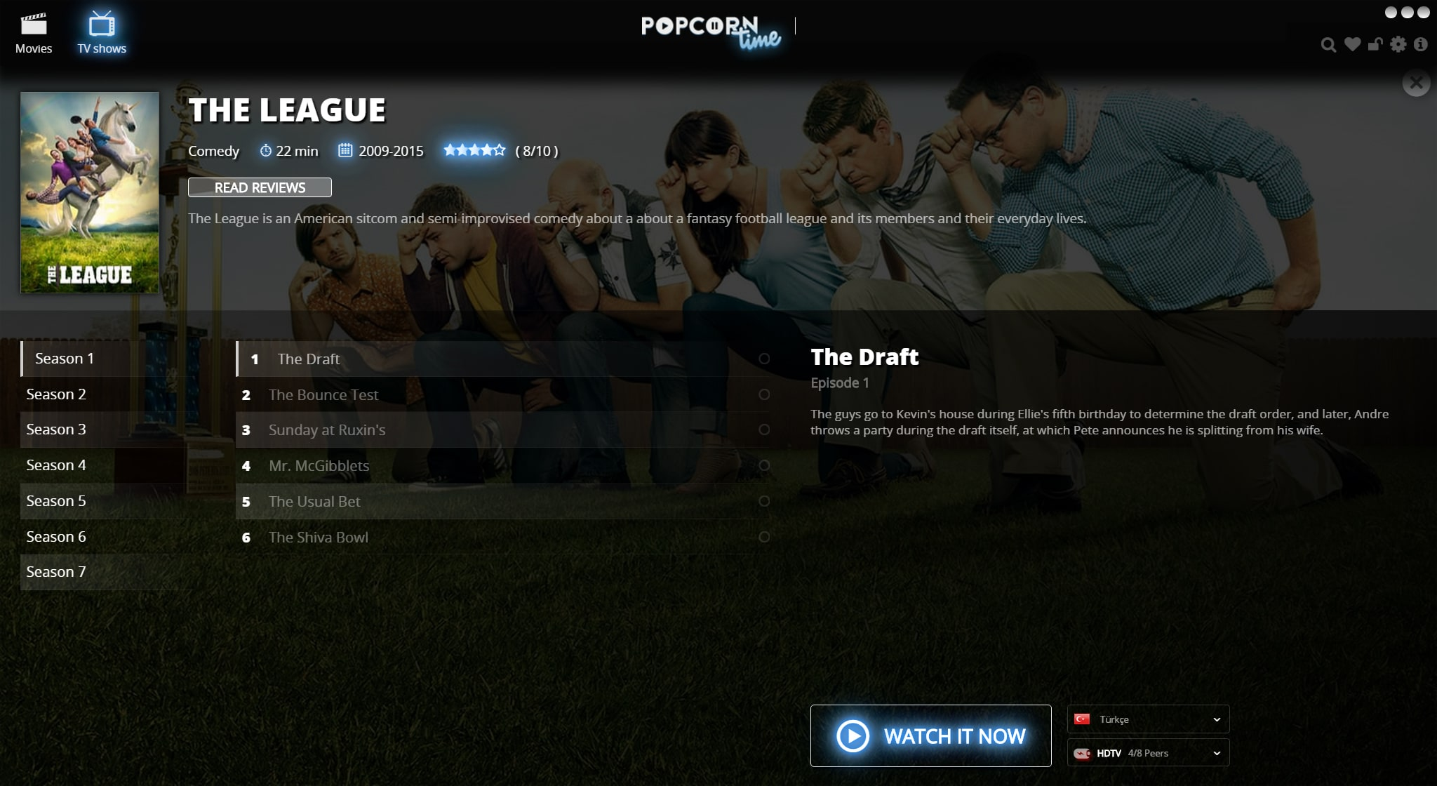 Watch Popcorn Time + torrent movies go down.