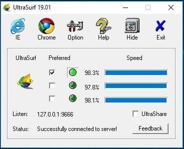 Ultrasurf 19.01 +  IP Adresi Gizleyici