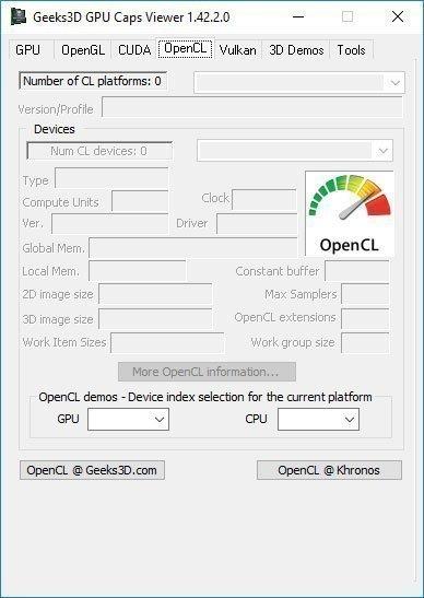 GPU Caps Viewer 1.42.2.0 – Detaylı Ekran Kartı Bilgileri Gösterme Programı