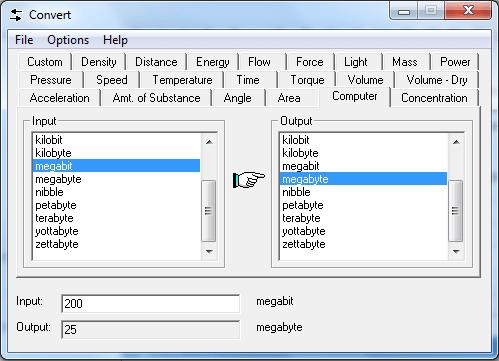 Convert 4.10 – Sıcaklık – Ses – Uzaklık – Hız – MB GB ve Mbit Hesaplama