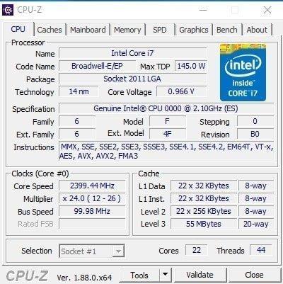 Cpu-z 1.88 – Bilgisayarınızın Tüm Özelliklerini Öğrenin