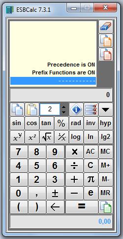 ESBCalc 7.3.1 – Bilimsel Hesap Makinesi Programı