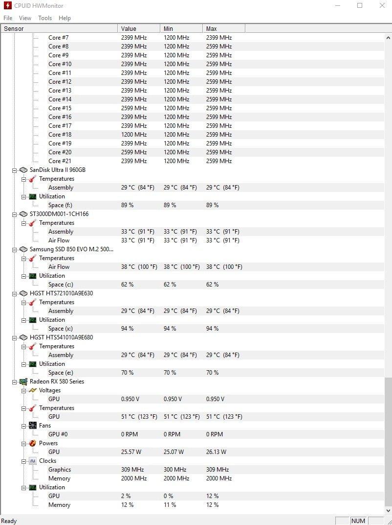 HWMonitor 1.40 – Bilgisayar Donanım İzleme ve Sıcaklık Ölçme Programı