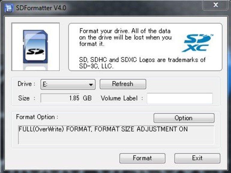SD Formatter 5.0.1 – SD Kart Formatlama – Biçimlendirme Programı