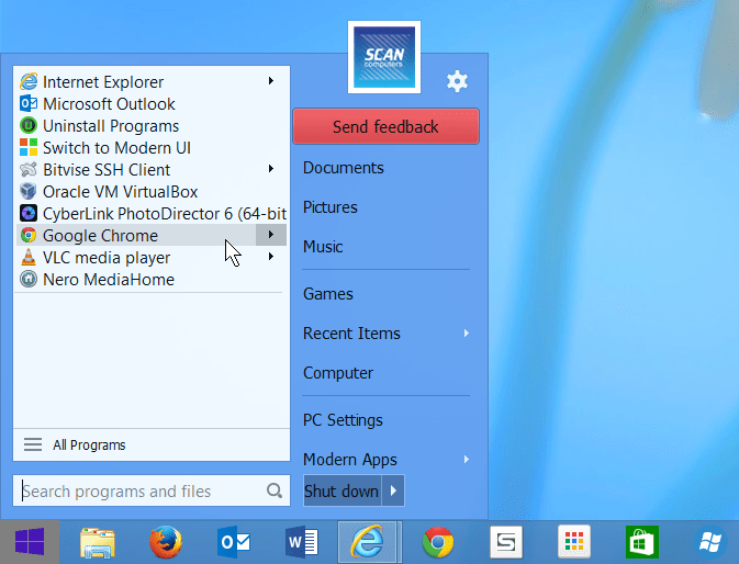 Start Menu 8 v2.0 – Windows 8 Tarzı Başlat Menüsü