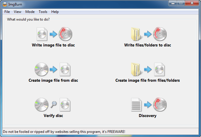 ImgBurn – Free and Turkish CD-DVD Writing Program