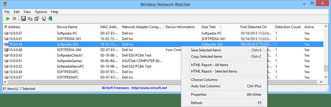 Wireless Network Watcher – Kablosuz Ağa Bağlı Cihazları Görme Programı