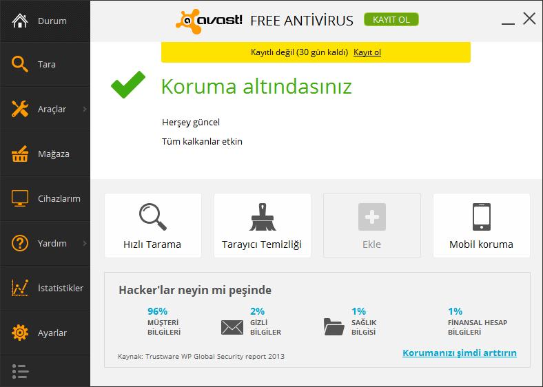 Avast Free Antivirus 2019 – Türkçe ve Ücretsiz Virüs Programı
