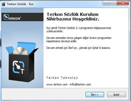 Terkon Free Dictionary Program V3.1