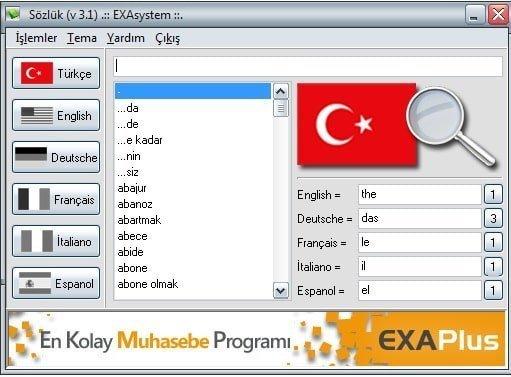 Terkon Ücretsiz Sözlük Programı V3.1