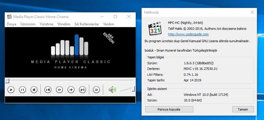 K-Lite Codec Pack - Free Download for Windows 10 64 bit / 32 bit