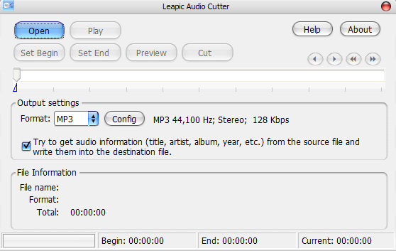 Leapic Audio Cutter – MP3 Music Audio Cut and Convert Program