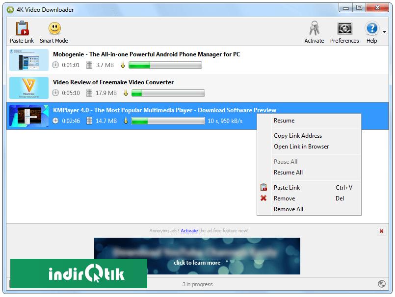 4K Video Downloader | İndir Tık - Güvenilir Program ve Dosya Arşivi