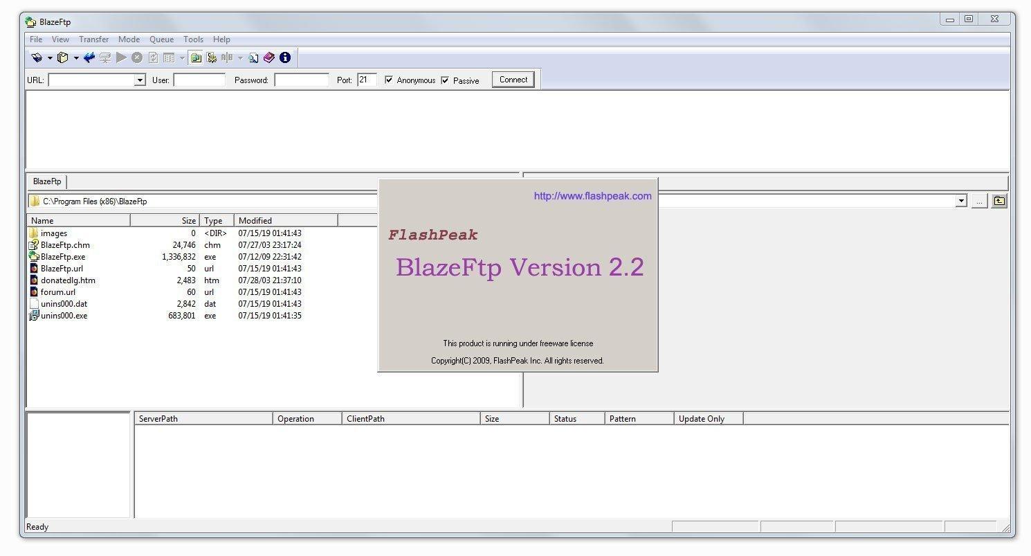 BlazeFtp 2.2
