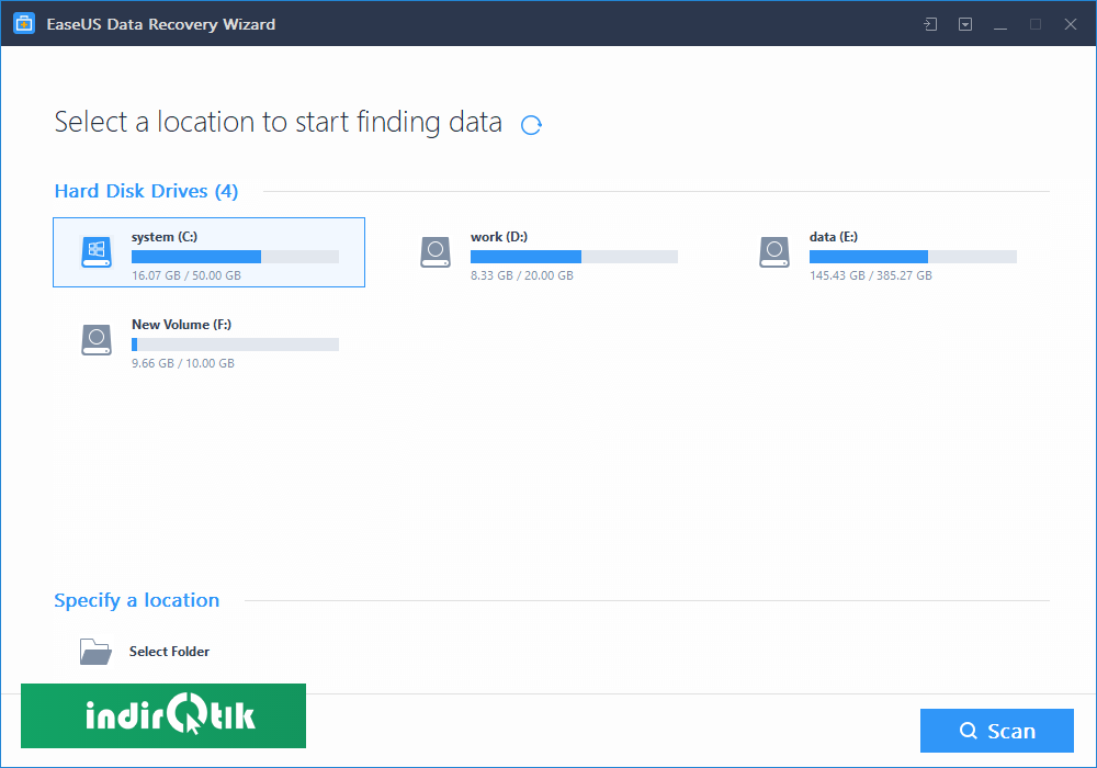 EaseUS Data Recovery Wizard Free Edition 12.9.1
