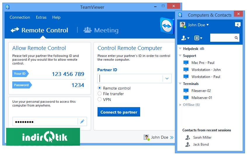 TeamViewer 14 4 2669   İndir Tık - Güvenilir Program ve Dosya Arşivi