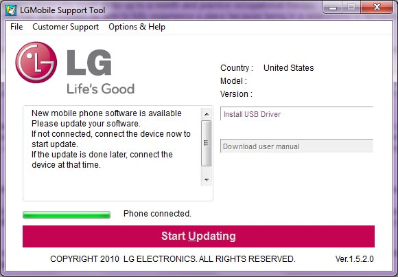 LG Mobile Support Tool 1.8.9.0