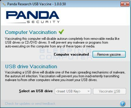 Panda USB and AutoRun Vaccine