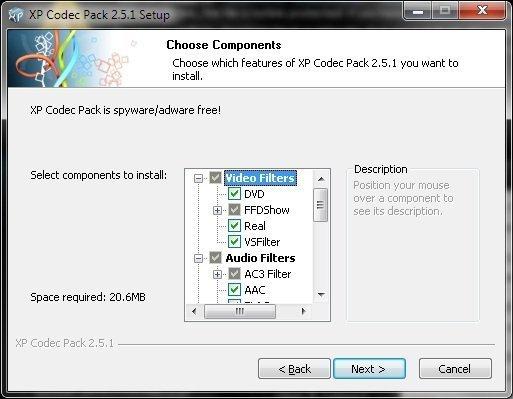 XP Codec Pack 2.7.4