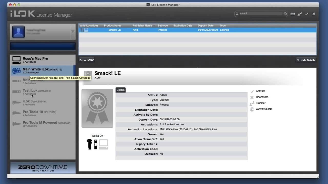 iLok License Manager
