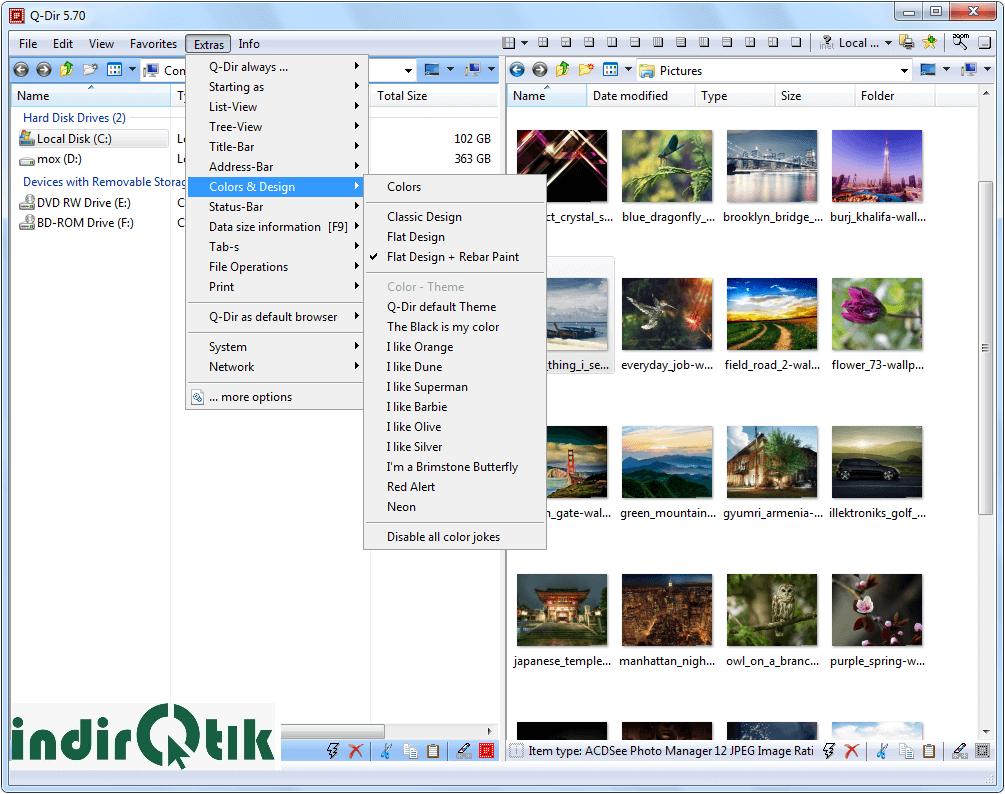 Q-Dir 7.92 – Administrador de archivos