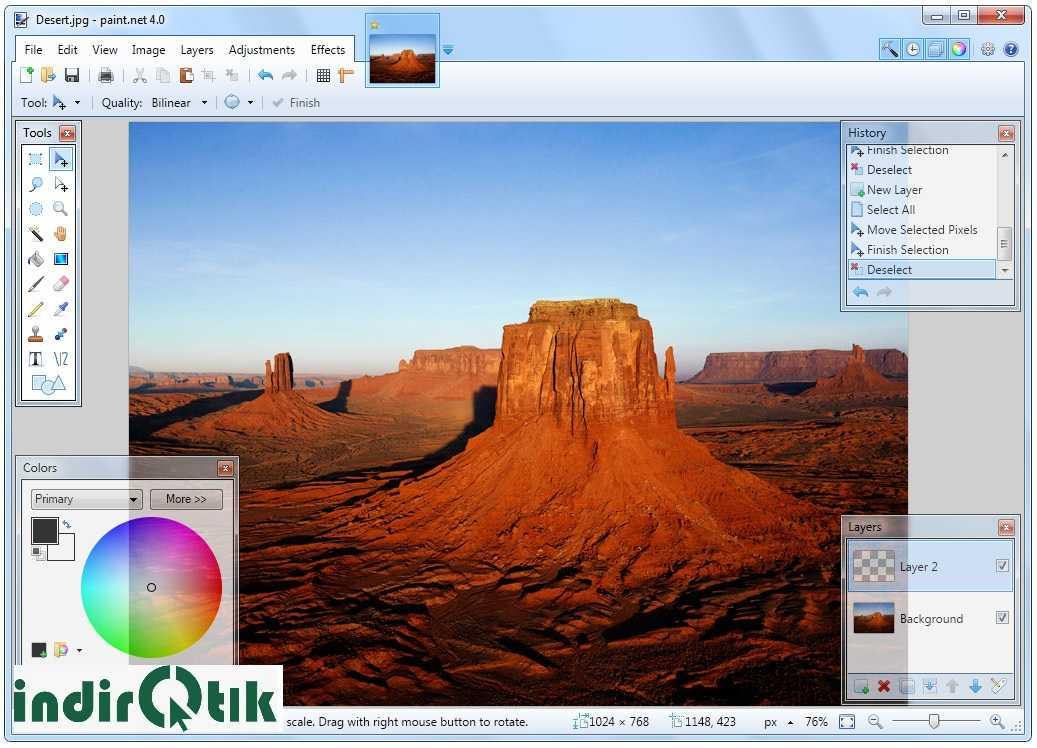 Paint.NET – бесплатная программа для редактирования изображений